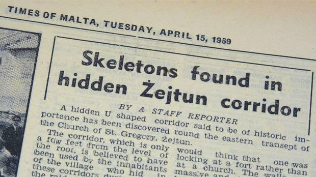 Cuttings from the Times of Malta of April 15, 1969.