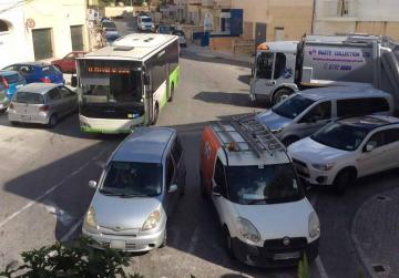 Chaos reigns at this junction in Balzan
