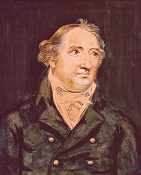 Watercolour portrait of Vittorio Barzoni (1767-1843). (Author's collection)