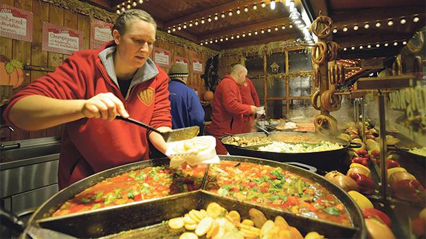 Street food is one of the biggest attractions in Berlin.