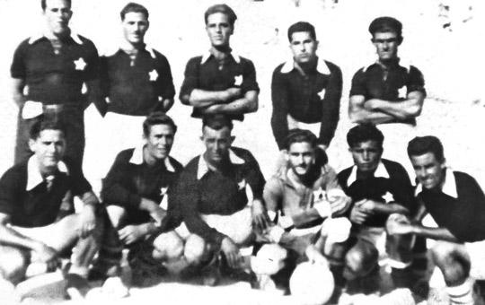 Marsaxlokk White Stars in 1953, one of the first teams to represent the southern fishing village in Malta FA competitions.