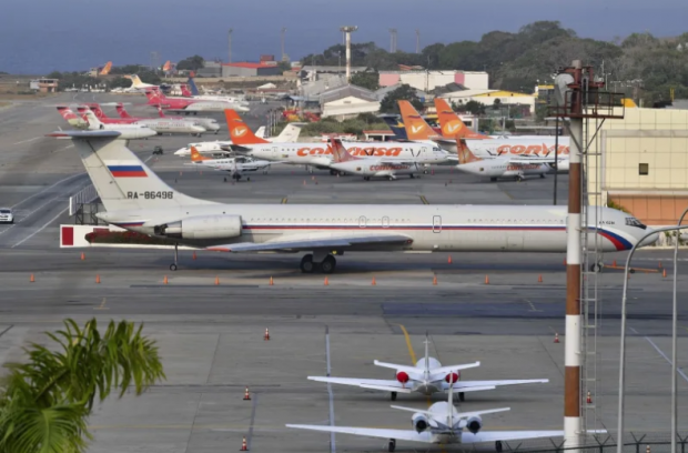 One of two Russian military planes that arrived in Venezuela last month. AFP