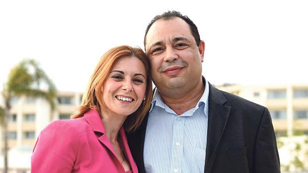 Silvio Valletta and his wife, Gozo Minister Justyne Caruana.