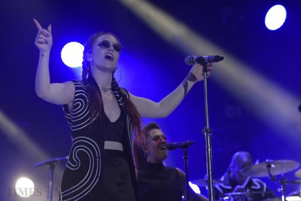 Jess Glynne sings at the Isle of MTV on the Granaries in Floriana on June 28. Photo: Mark Zammit Cordina