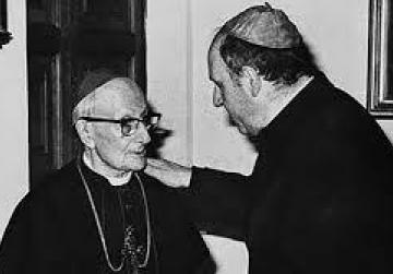Mgr Mercieca (right) with Mgr Michael Gonzi.
