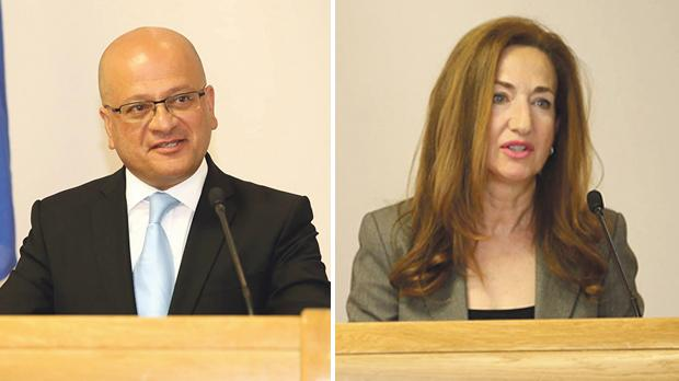 Parliamentary Secretary Deo Debattista and MCCAA chairperson Helga Pizzuto.