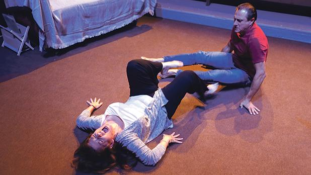 Anthony Neilson's play explores how the central couple, Stu and Abby, struggle to keep their relationship alive as they try to cope with the loss of their child. Photos: Darrin Zammit Lupi