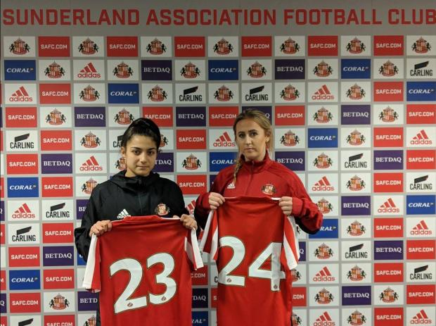 Maria Farrugia (left) made her Sunderland debut against Blackburn Rovers. Photo: Sunderland Ladies