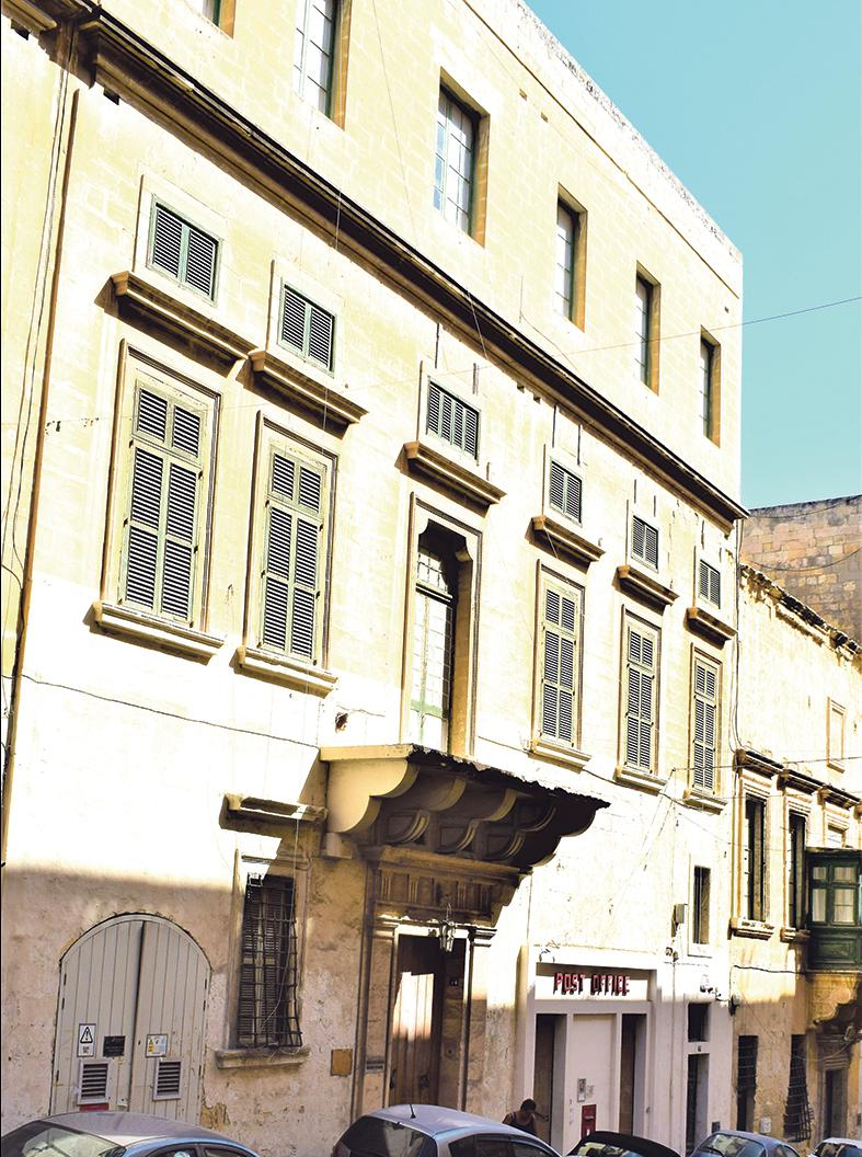 Casa Scappi, 74, Old Bakery Street, Valletta, where Caterina Scappi lived.