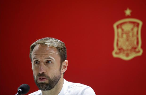 Gareth Southgate addressing the media ahead of the UEFA Nations League match against Spain.