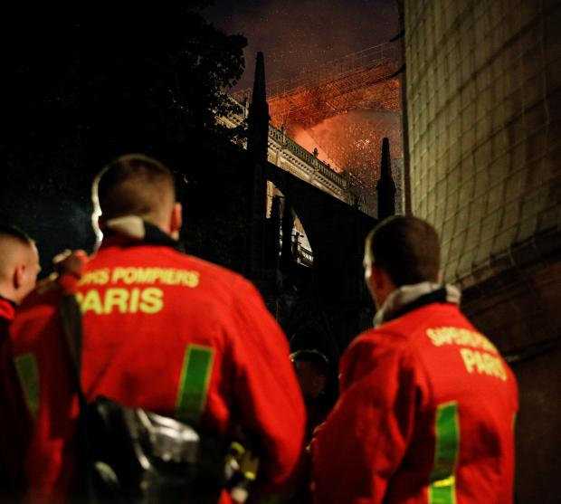Over 400 firefighters sped to the blaze.