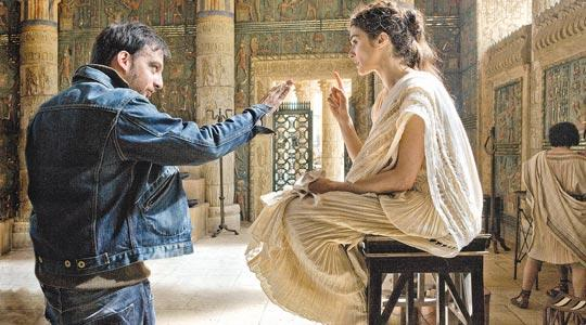 Oscar-winning director Alejandro Amenábar and movie star Rachel Weisz on the set of Agora, the historical drama set in ancient Egypt that was shot in Malta and premieres at Cannes tomorrow, expected to generate worldwide publicity for the island.