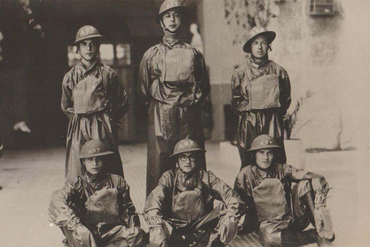 A decontamination squad of the Air Raid Precautions.