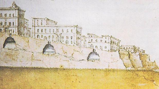 Romano Carapecchia's 1723 drawing of three of Valletta's water cisterns. Courtesy: National Library of Malta