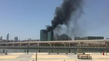 Fire hits high-rise tower being built in Abu Dhabi
