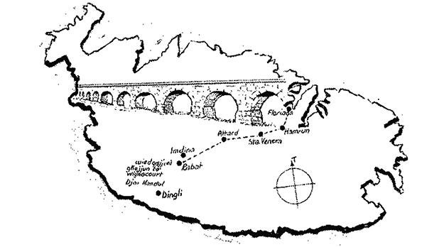 The route of the Wignacourt aqueduct.