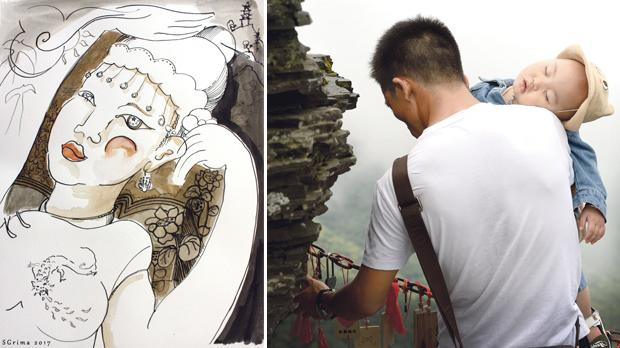 Beautiful Girl of Guizhou by Stephen Grima. Right: Guizhou 4 by Matthew Mirabelli.