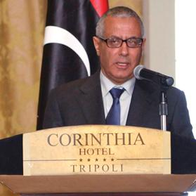 Libya's Prime Minister Ali Zeidan during a news conference in Tripoli. Photo: Reuters