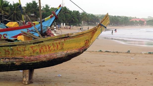 Busua beach.