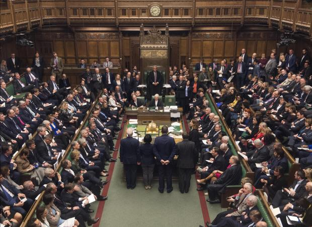 The vote in Parliament on Tuesday. Photo: AFP