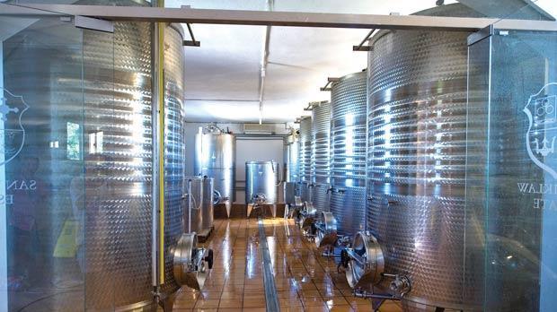 The winery at San Niklaw Estate.