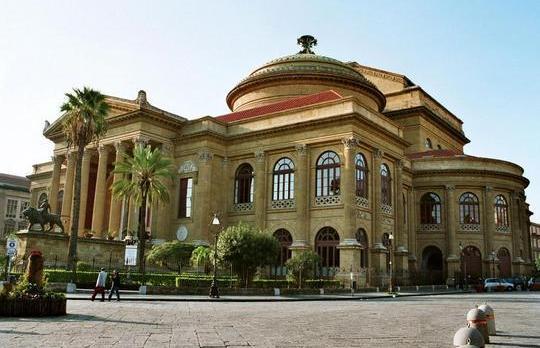 The Teatro Massimo in Palermo.