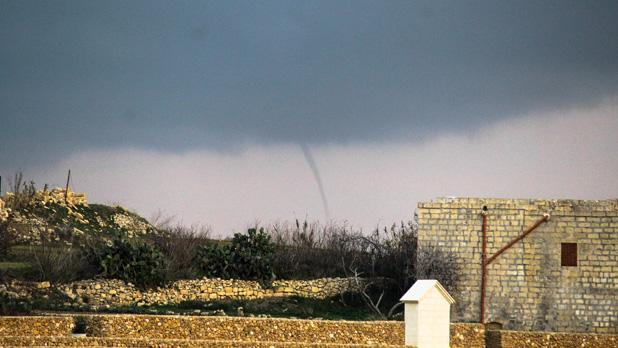 Waterspout over the south of Gozo. Photo: Andrea Muscat