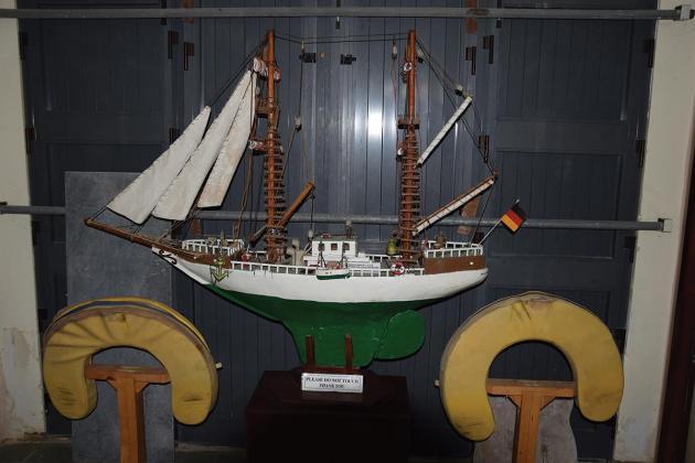 A small museum with a treasure trove of naval memorabilia