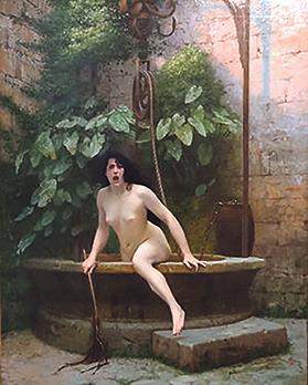 Truth Coming Out of Her Well to Shame Mankind (1896) by Jean-Léon Gérôme.