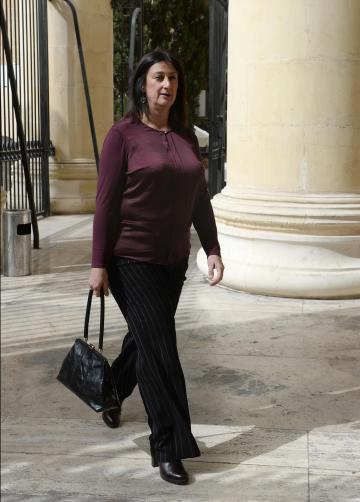 Daphne Caruana Galizia walking into court last month.