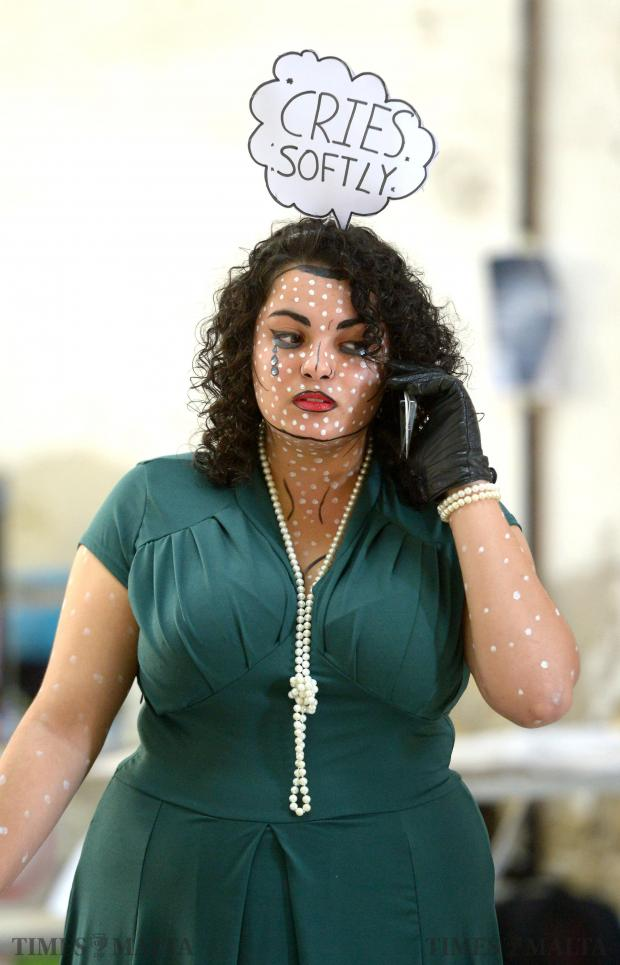 A lady dresses up as a character during Malta Comic Con at Magazino in Valletta on December 6. Photo: Matthew Mirabelli