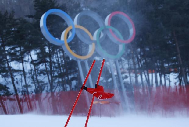 Strong winds forced the postponement of the women's giant slalom at the Winter Olympics.