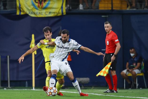 Gosens rescues Atalanta with late point at 10-man Villarreal