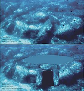 Underwater stone temple off Lampedusa