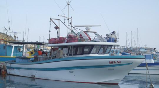 The missing 12-metre-long fishing boat Simshar.
