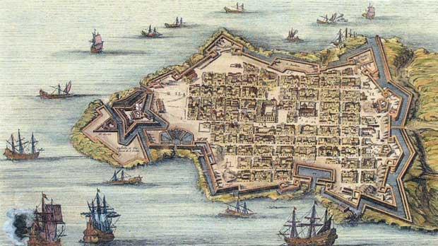 Valletta ou Valete Ville Forte, de l'Isle de Malte. P. Mortier, Amsterdam, 1730.