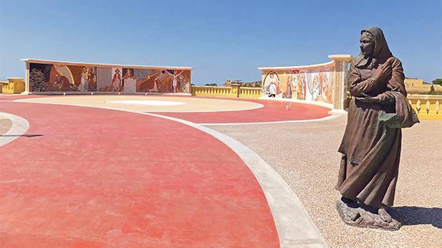 The new mosaics around Ta' Pinu church parvis. Photos: Mary Attard