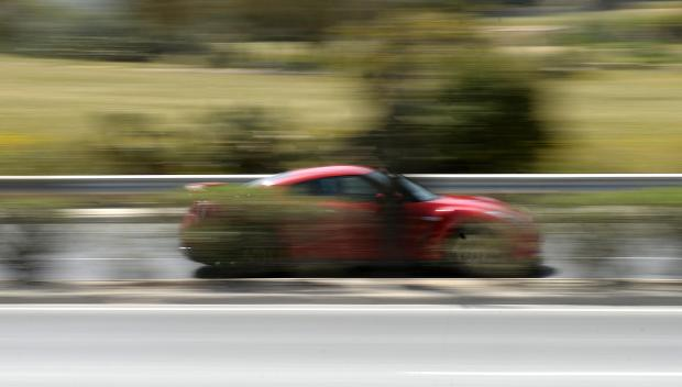 A sports car speeds down the Mriehel bypass on April 21, as Police announce that they will shortly be using hand held speed cameras. Photo: Matthew Mirabelli