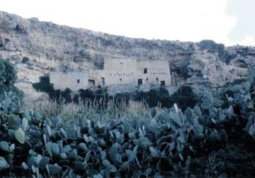 A derelict medieval hamlet in the rolling countryside between Rabat and Dingli.
