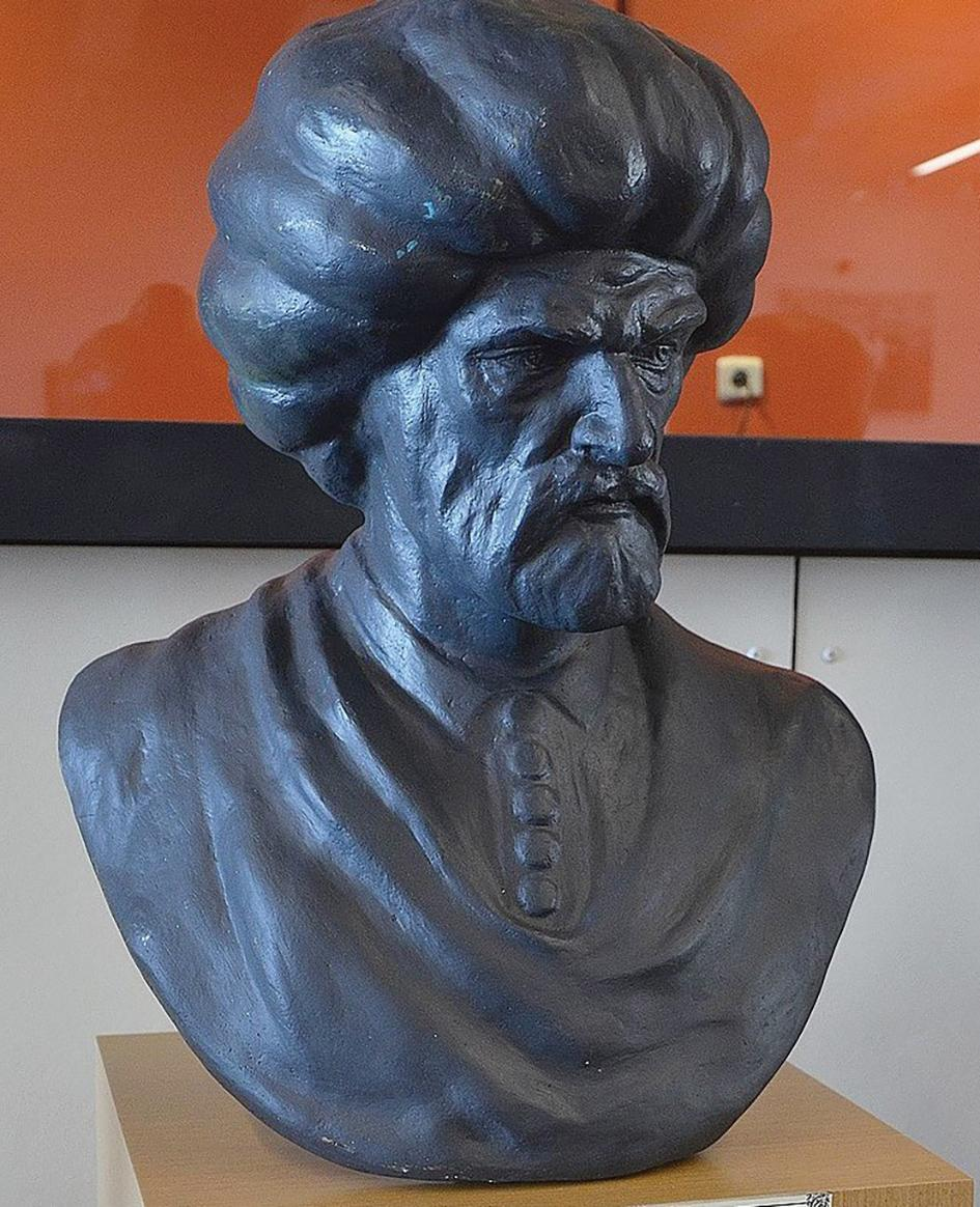 Bust of the Turkish admiral, Pialì Pasha (c.1515-68), in the Istanbul Maritime Museum, Turkey. He commanded the Turkish fleet during the Great Siege of 1565.