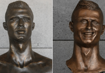 Cult sculpture of Cristiano Ronaldo replaced