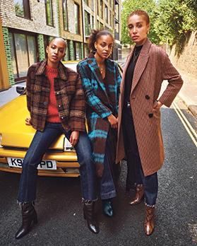 The activist and model Adwoa Aboah (right) with her sister Kesewa (centre) and her cousin Alewya.