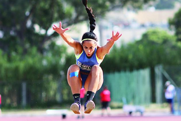 Watch: Claire Azzopardi tops 100m, triple jump as athletics returns