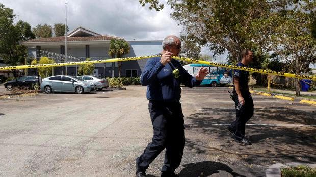 The Hollywood home where eight people died. Photo: Reuters