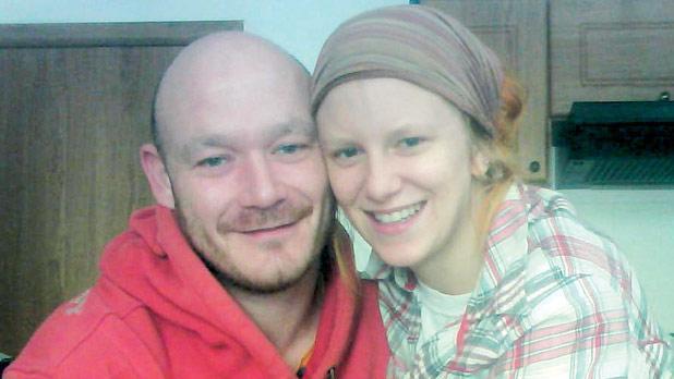 Daniel Holmes with Marzena, his fiancée.