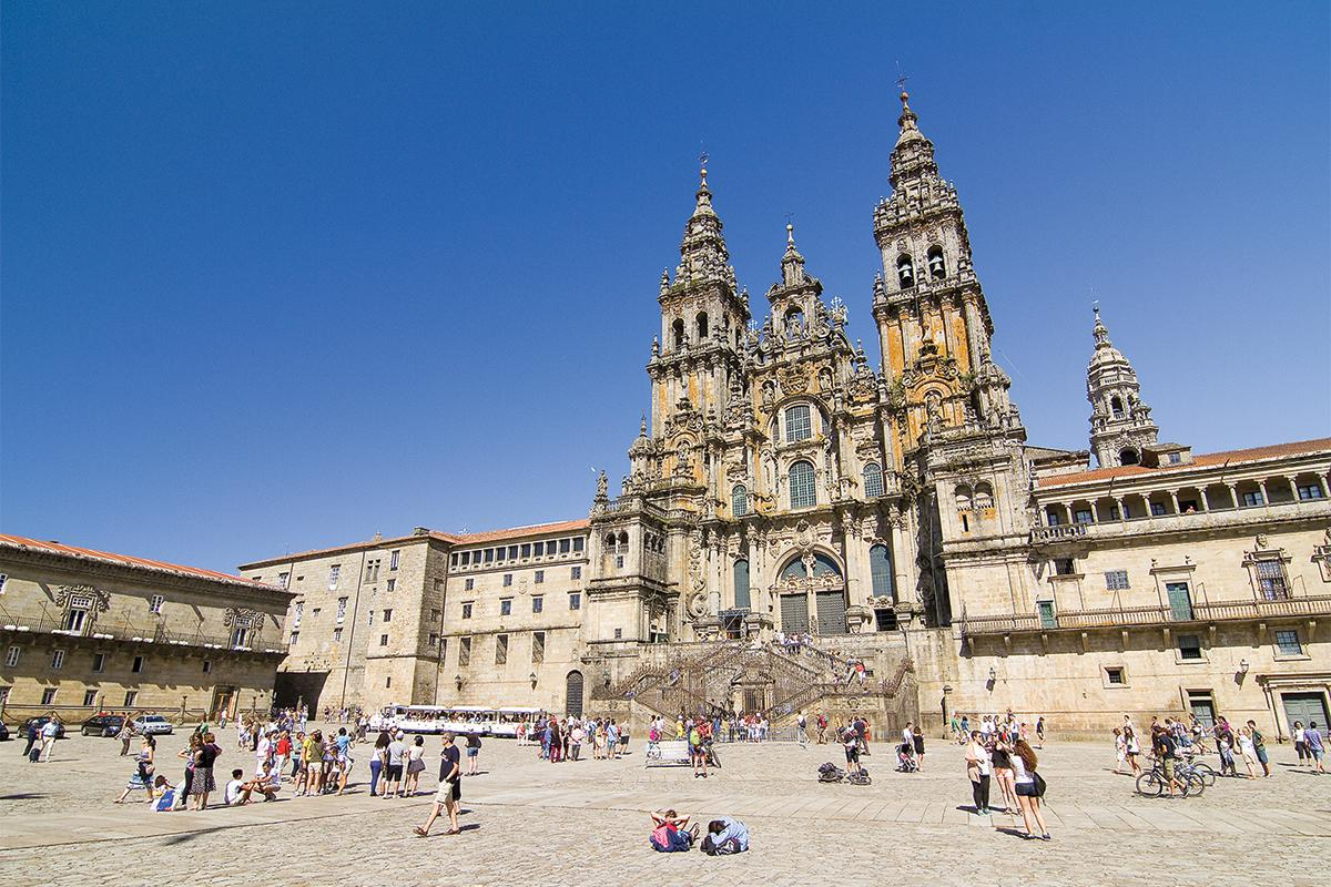 The ultimate destination for pilgrims: the Cathedral of Santiago de Compostela, in northwestern Spain.  The & lsquo;  holy door & rsquo;  at the back of the cathedral will be open this year to mark the Ano Santo or the Xacobean Year, granting those who pass through it indulgence or absolution of their sins in the eyes of the Roman Catholic Church.  Photo: Shutterstock.com