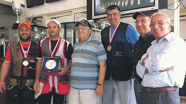 Brian Galea (second from left) was the winner of the Luigi Franchi Trophy last weekend.