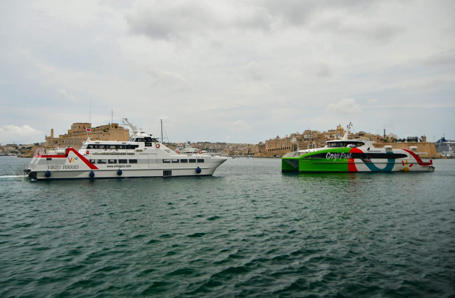 Costumers can now book a trip with either Virtu Ferries or Gozo Fast Ferry, with booking starting from today at 4pm Photo: Jonathan Borg