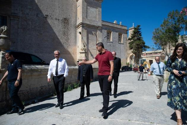 Rabat parish church grounds to get a paving upgrade