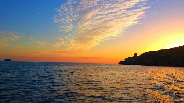 Sunset near Filfla. Photo: Chris Talbot